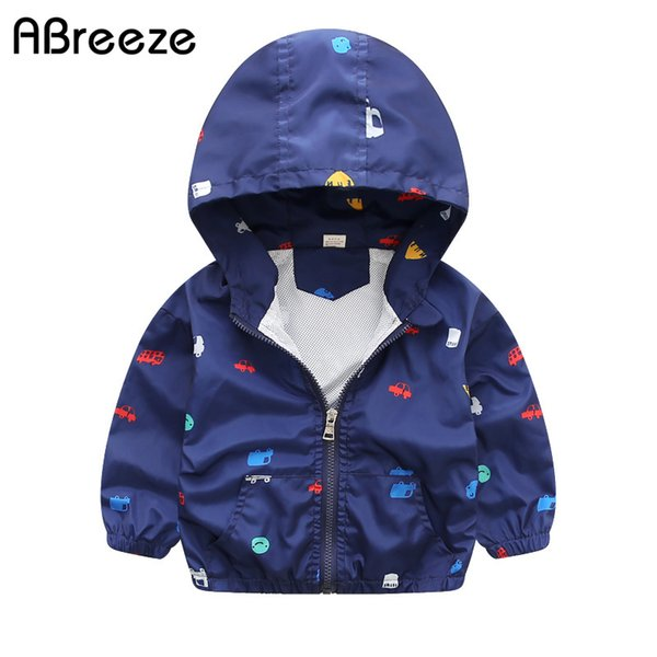 best selling 2017 New Summer & autumn children jackets casual hooded kids outerwear coats 1-7T blue and whith style jackets for boys
