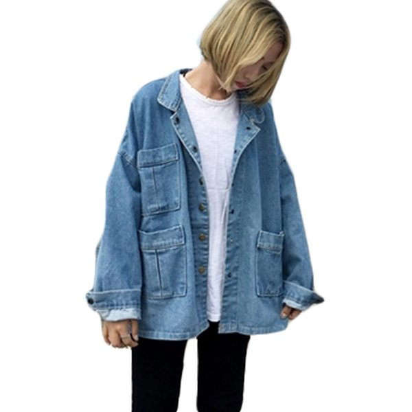 Denim De43 Acheter Jeans Du Style Femme 42 Sans Manteau Femme BF Veste Jeans Outwear Basique Femme Classique Boutons Doublure Veste Rétro Usé XH054 y7Y6bgfv