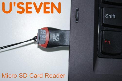 Venta al por mayor-libre del envío 1pcs / lot Tarjeta de memoria del teléfono Adaptador del lector de tarjetas del Micro SD USB 2.0 Venta entera ¡Oferta ofrecida !!