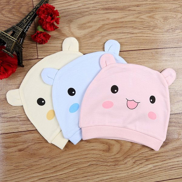 Cartoon Bear Cotton Newborn Baby Hat 0-6 Months Cute Toddler Infant Soft Warm Hat Boys Girls Caps Accessories Gift for Kids