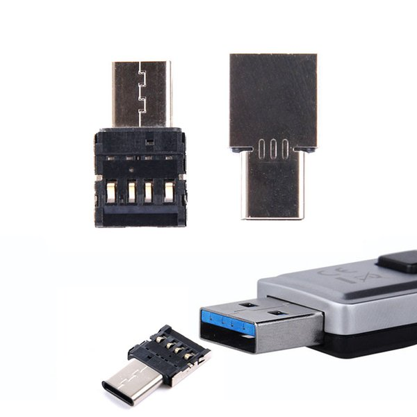 Tested USB Type C to USB Connector OTG Cable USB-C OTG Adapter Connector for Cellphone/Tablet/Flash Drive Type-c Phone interface