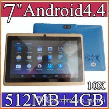 """best selling 2020 product 7 inch Android4.4 Google 3000mAh Battery Tablet PC WiFi Quad Core 1.5GHz 512MB 4GB Q88 Allwinner A33 7"""" Dual Camera 6-7PB"""