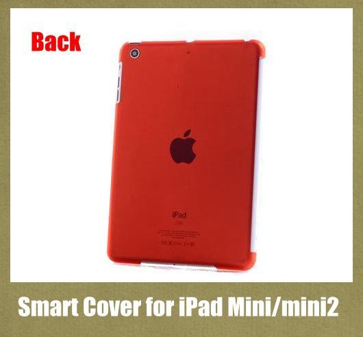 Custodia rigida in cristallo trasparente con cover Smart Cover per iPad mini / mini 2 impermeabile antiurto colorato PCC007
