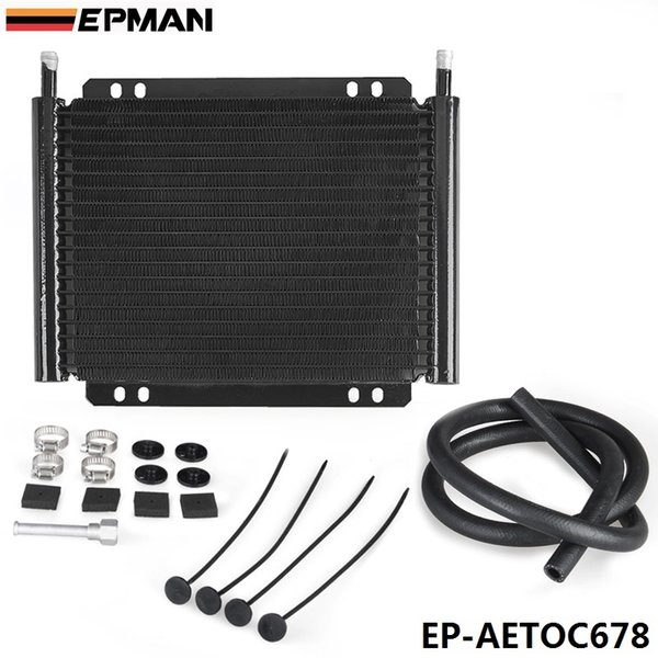 EPMAN High Quality Racing Car Aluminum Performance 19 Row Series 8000 Plate & Fin Transmission Cooler Kit EP-AETOC678