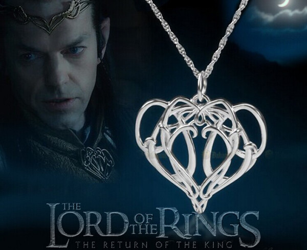 The Hobbit Elrond necklaces movie the Lord of the rings Elrond Pendant ELF KING Necklace charm jewelry necklace pandants men's necklace