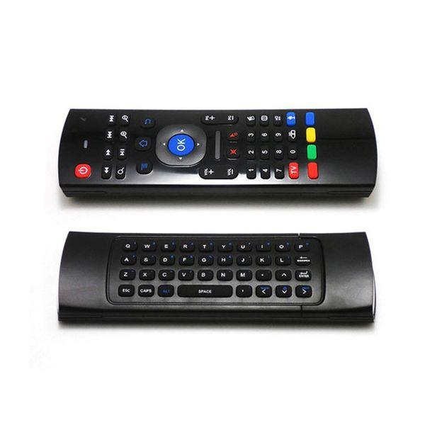 X8 Air Fly Mouse MX3 tastiera wireless 2.4GHz con telecomando a controllo remoto IR somatosensoriale senza microfono per Android TV Box Smart Backlight