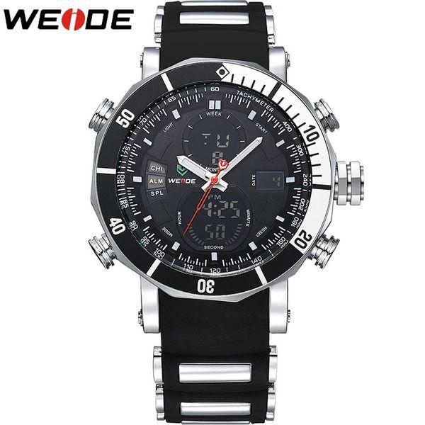 WEIDE Quartz Digital Watch Men Sports Watches Waterproof Military Alarm Stopwatch Dual Time Zones Brand New relogios masculinos