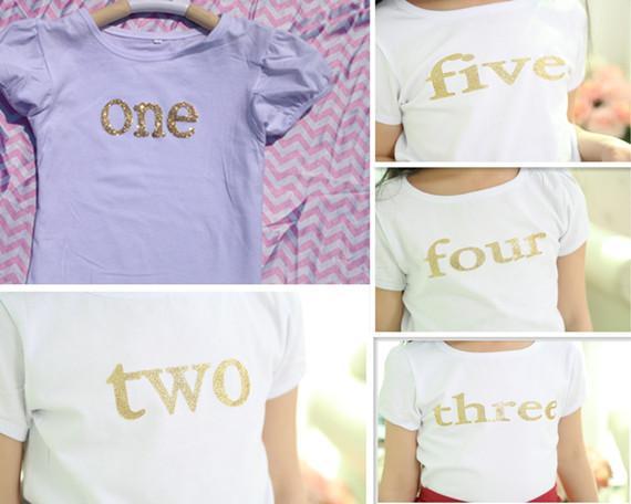 b3954cec5380 2019 Posh Short Sleeve Kids Tshirt Gold Baby Tshirt Glitter Gold ...