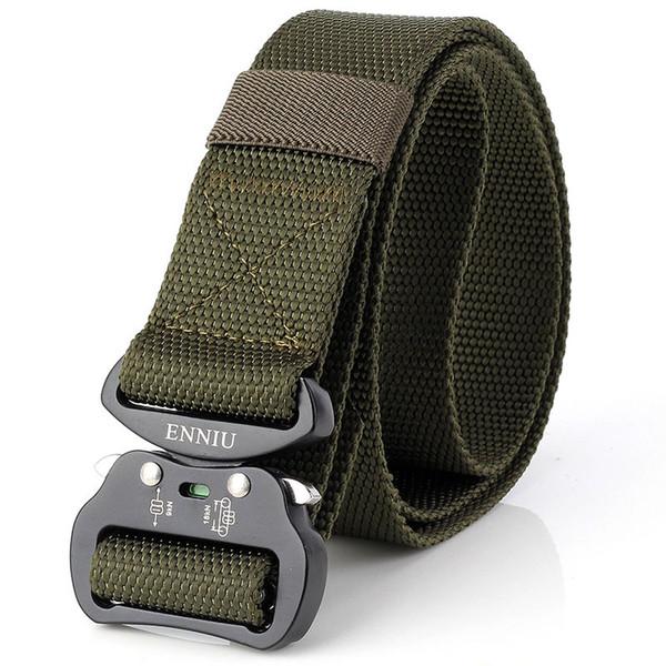 Top Quality New Design Aluminum Buckle 3.8 cm Tactical Twist Nylon Special Inner Combat Belt Multifunctional Army Training Outdoor Belt