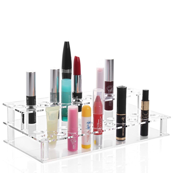 Transparent Acrylic 41 Booths Pen E Cig Holder Electronic Cigarette Display Shelf Rack Lipstick Makeup Storage Jewelry Display Stand
