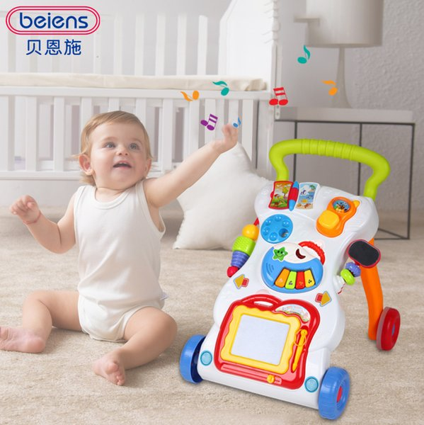 Beiens Brand Toys Learning Walker For Kids 9 Month Up Music Light Magnetic Drawing Board Toy Phone Mirror Educational Toy