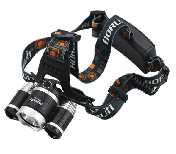 headlamp 5000 Lumen Super Bright Boruit 3X CREE XML T6 Headlamp Headlight 18650 LED Head Light Lamp+charger+car charger