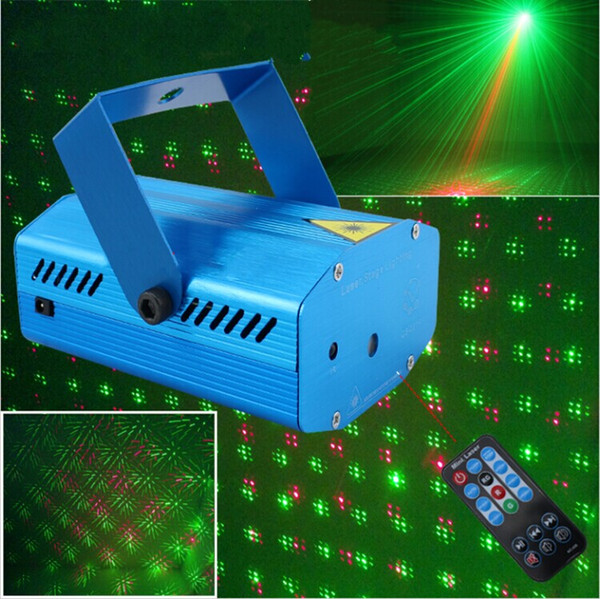 Mini Party Laser Stage Lighting With Remote Controller Green Red Effect Stage DJ Lighting Beam Light Free Shipping