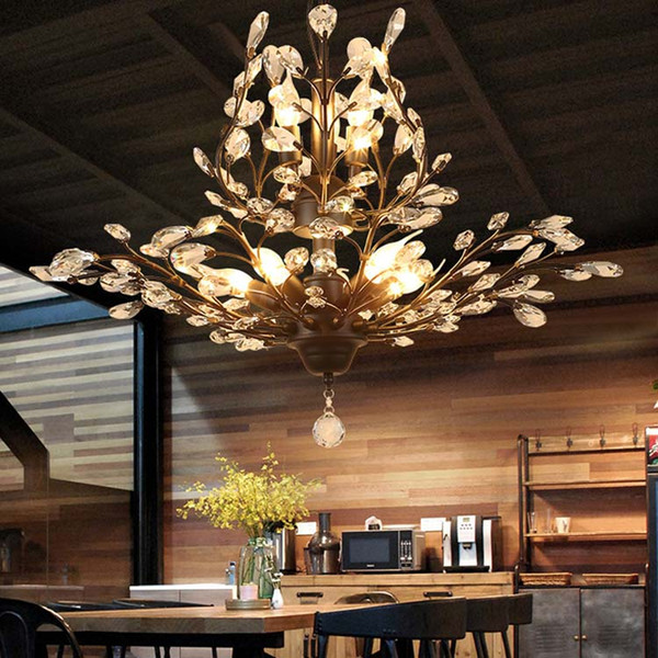 K9 Crystal Chandelier Tree Branch Pendant Lamps vintage crystal chandeliers iron chandeliers modern living Ceiling Light Lighting Fixture