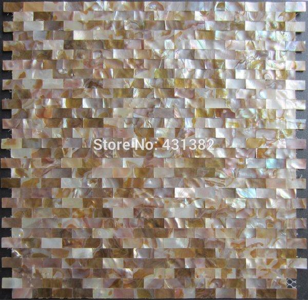 Ev Geliştirme 10X20 Doğal kabuk mozaik Kiremit Backsplash Tatlısu Kabuk Inci Mozaik Karo Çini Mutfak Banyo Zemin