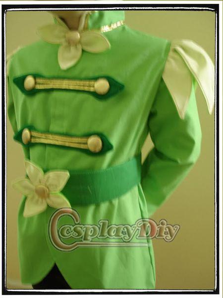 La princesse et la Grenouille Prince Naveen Halloween Hommes Adultes Cosplay Costume