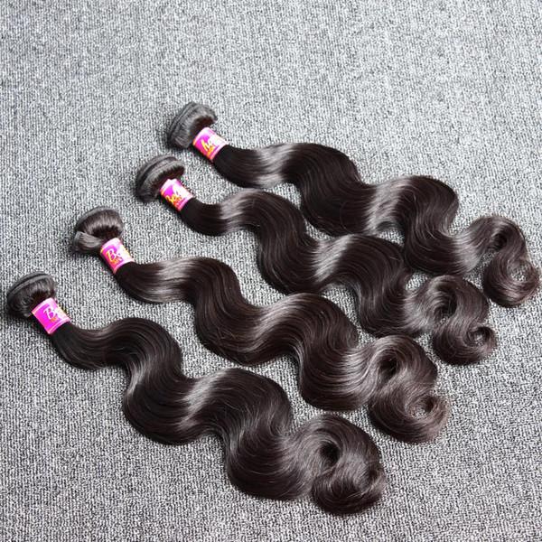 Bella Hair®8A Brazilian Human Hair Extensions 8~30inch Mix Length 4pcs/Lot Brazilian Body Wave Wavy Hair Weft Soft Dyeable Human Hair Weaves