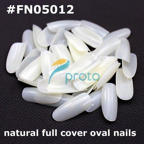 best selling 500 Oval natural french nail art fullwell fake tips full cover acrylic nails Retail