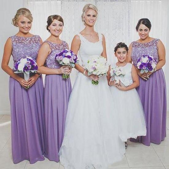 quite nice another chance good texture Lilac Vintage Lace Bridesmaid Dresses 2016 Bateau Sleeveless Floor Length  Formal Occasion Evening Gowns Wedding Guest Maid Of Honor Dresses Plum ...
