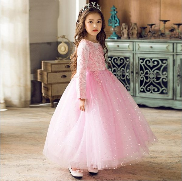 Jewel Long Sleeveless Appliques Ball Gown Tulle Ankle Length Lace ...