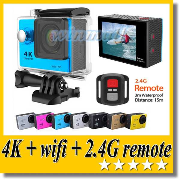 best selling SJ9000 H9R Ultra 4K Action Camera Wifi + 2.4G Remote 2 inch Screen 170 degree wide Angle 30M waterproof Sport DV 1080P 60FPS