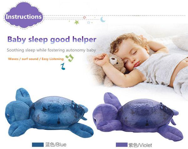 Children baby sleep night light 5pcs a bag , creative spirit lamp sea, ocean Star Projector lamp, speed sound of the waves