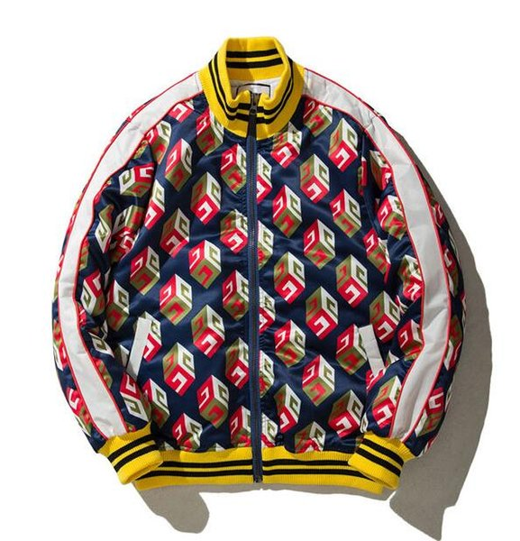 kanye west new style MA1 lovers Air Force flight suit Geometric figure skate board hip hop Male and female same style baseball jacket
