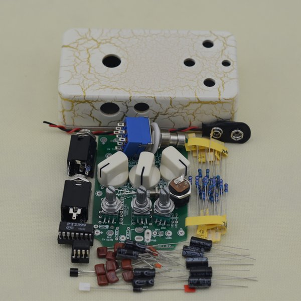 Build your own DIY Delay-1 Guitar Effect Pedal kits Electric Pedals light white