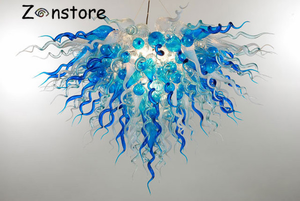 Luz de techo de cristal soplada montada mano llevada rasante montada color de la lámpara de la decoración del techo del vidrio italiano del diseño
