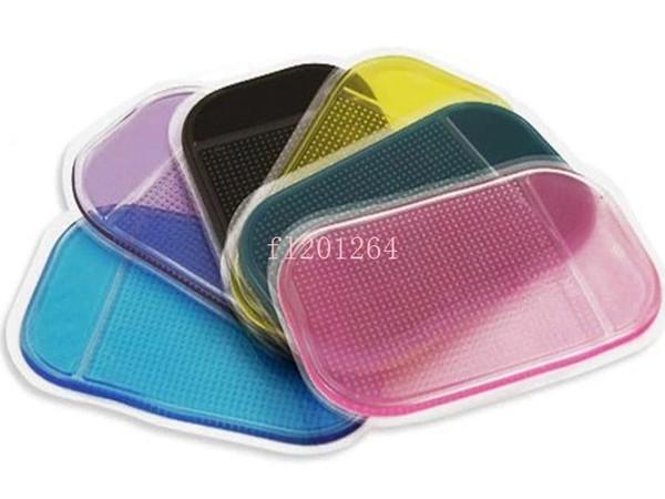 Livraison Gratuite Puissante Magie Sticky Pad Anti Slip Non Slip Mat Pour Téléphone PDA mp3 mp4 Accessoires De Voiture 6 couleurs, 5pcs / lot