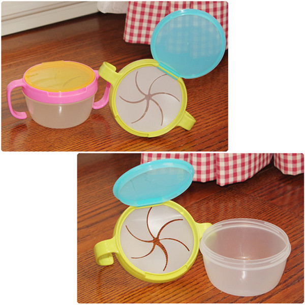 top popular Baby Dishes Bowl Child Kids Food Snacks Candy Biscuit Anti spill Storage Holder Tank Non spilling Cup with Cover & Handle 2019