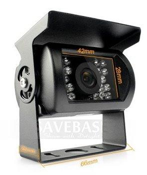 Free DHL 20 Pcs 12V Ccd Ir Night Vision Reverse Backup Car Camera For Vehicle Anti-Shock 4Pin