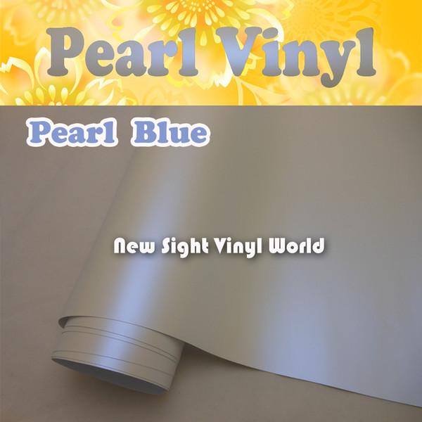 Premium Satin Pearl Blue Car Vinyl Matte Pearl Blue Car Wrap Air Free Bubble Vehicle Wraps Size:1.52*20M/Roll (5ft x 65ft)