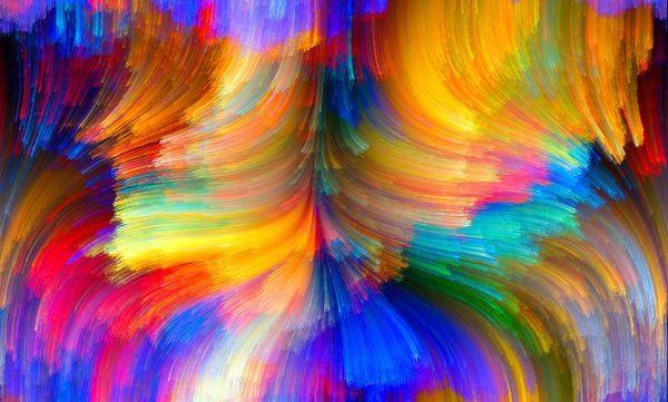 Cartaz Trippy Art psicodélico Tecido 40