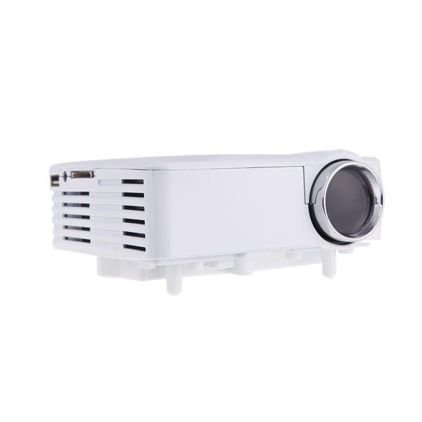 Neu!! Tragbare LED Video TV Beamer Projektor für Heimkino Multimedia Player mit HDMI / AV / VGA / SD / USB Schwarz / Weiß