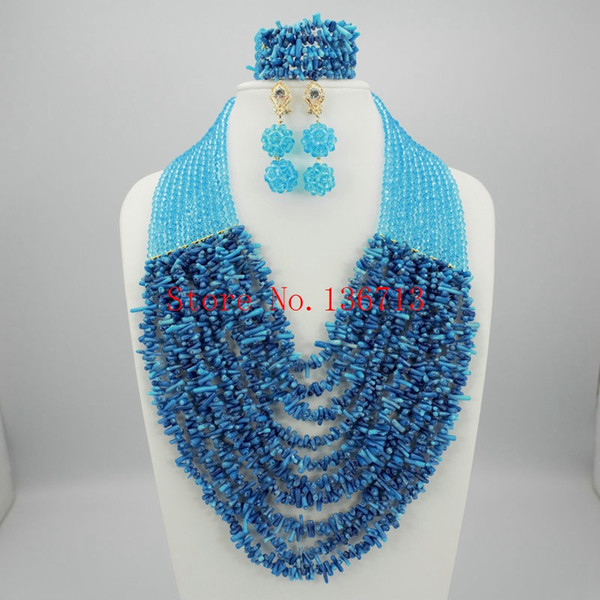 Latest Coral Gold African Wedding Beads Jewelry Set African Nigerian Coral Beads Jewelry Set Dubai Gold Bridal Jewelry Set HD101-3