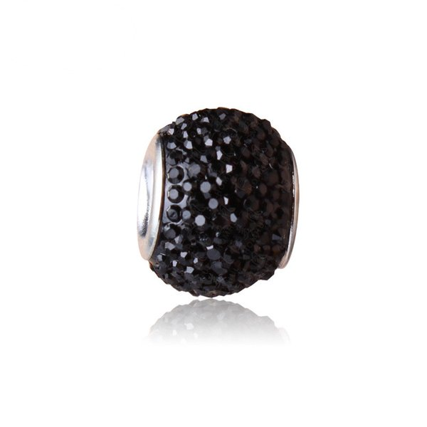 best selling Black Charm Bead 925 Silver Plated Fashion Women Jewelry Stunning European Style For Pandora Bracelet Necklace PANMB137