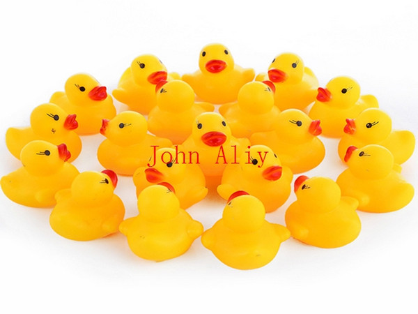 best selling Free shipping Baby Bath Water Toy toys Sounds Yellow Rubber Ducks Kids Bathe Children Swiming Beach Duck Ducks Gifts