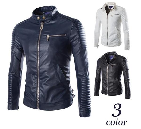 2017 sonbahar ve kış yeni Avrupa ve Amerikan tarzı erkek özel zanaat süper tipi araba deri ceket PY60