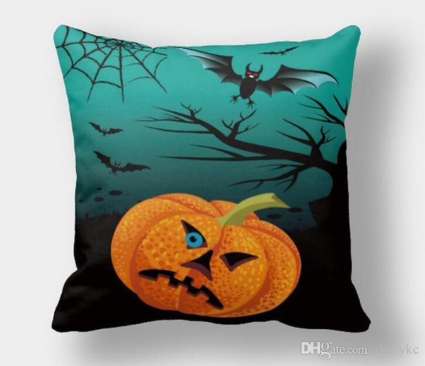 Halloween pillow covers mysterious pumpkin witch bats blood dead pillow covers 10 styles scared Halloween cushions pillow cases free shippin