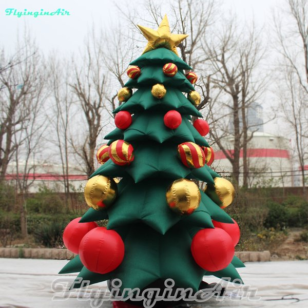 Christmas Tree Inflatables.5m Giant Inflatable Christmas Tree Xmas Tree For Home Mall Christmas Decoration Holiday Home Decor Holiday Ornaments From Flyinginair 1014 3