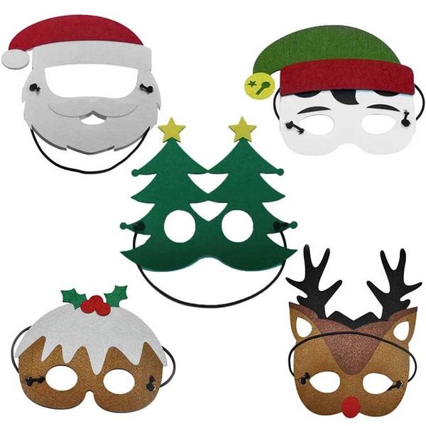Halloween Christmas Cosplay Masks Cartoon Felt Mask Costume Party Masquerade Children Kids Christmas Birthday Gift Mask