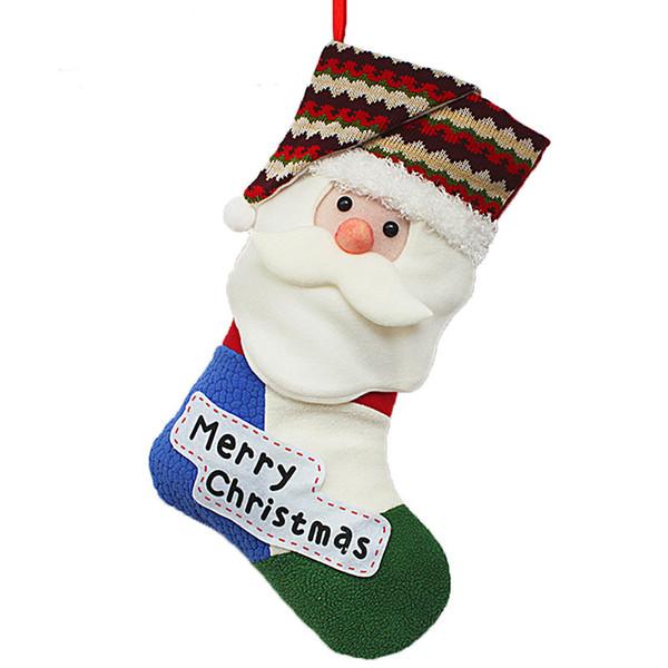 Kukucos Christmas Eve Santa Claus Nice Clolurful Gift Bag Stockings Girl's Candy Children Large Bag Decoration
