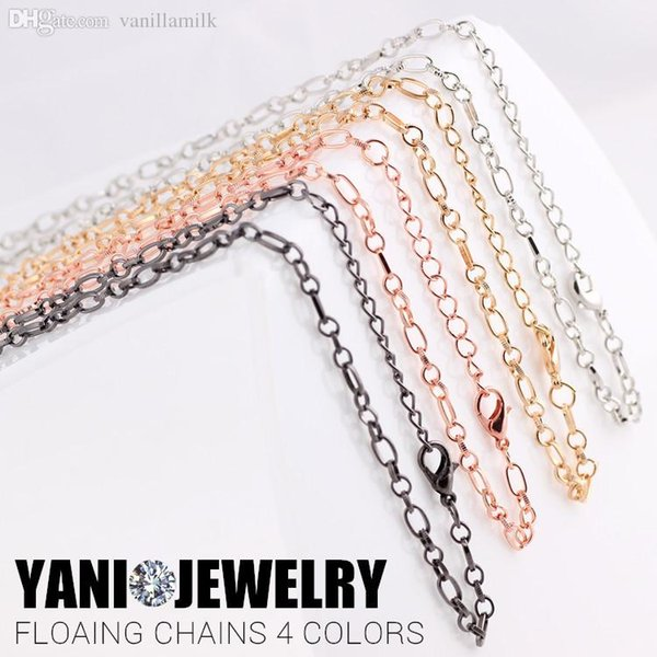 Wholesale-Mixed Toggle Link Chains with Lobster Clasp Necklace fit Floating Locket Chain Free shipping