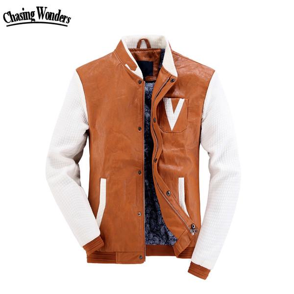 Осень-Пу бомбардировщик Letterman куртка мужчины пальто ветровка колледж Бейсбол Весте Homme манто Абриго Chaqueta Hombre Ceket Heren Jassen