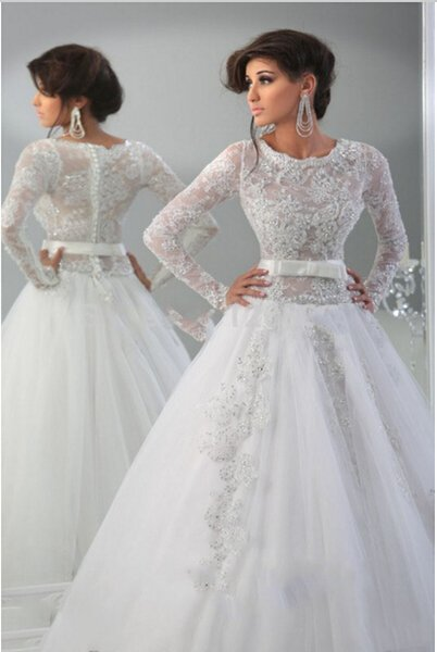 Discount 2015 New Design Long Sleeve India Style Wedding Dresses ...