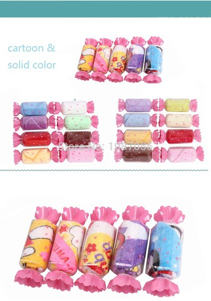 Wholesale-10pcs/lot Cartoon Cake Towel Candy Towel Promotional Birthday/Bussiness Gift 100% Cotton For Festival Giveaway Hot Sale Season