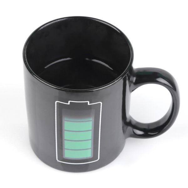 Magic Battery Coffee Mug Tea Milk Hot Cold Heat Temperature Sensitive Color-Changing Mug Cup
