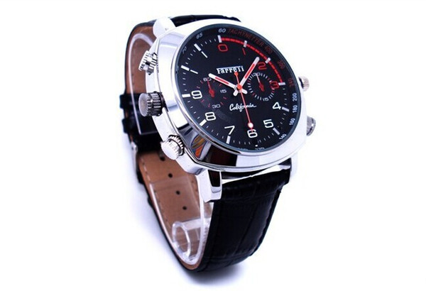 HD 1080P IR night vision Watch Mini Camera 8GB 16GB Waterproof Watch DVR Leather WristWatch voice Video Recorder 32GB watch Camcorder