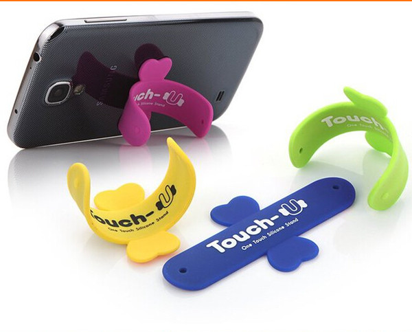 Free Shipping- newest south Korean style multi-functions Silicon Stand Mounts and Holders for Cell Phone iPod Silicon Supporter